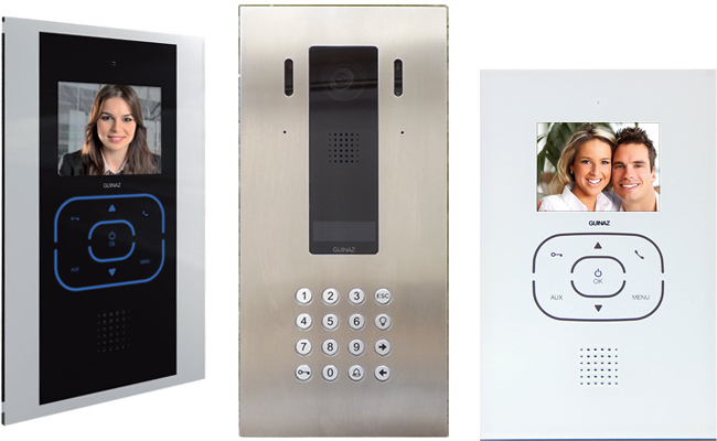 Guinaz Digital Alea and Tactile Door Entry System for Apartments