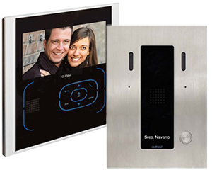 Guinaz 1-Monitor 7-inch Tactile Black Video Door Entry Kit