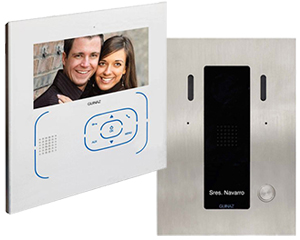 Guinaz 1-Monitor 7-inch Tactile White Video Door Entry Kit