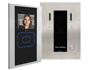 1-Monitor Kit Alea and Tactile Black Video Door Entry System
