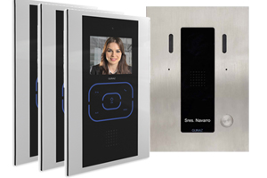 3-Monitor Door Entry Kit Alea and Tactile Image Recording