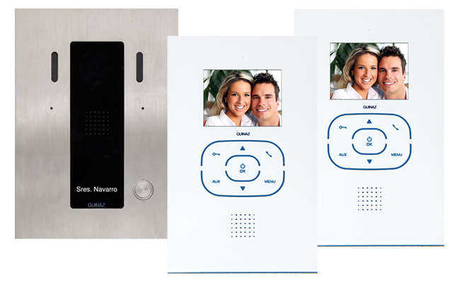 2-Monitor Kit Alea and Tactile White Video Door Entry System
