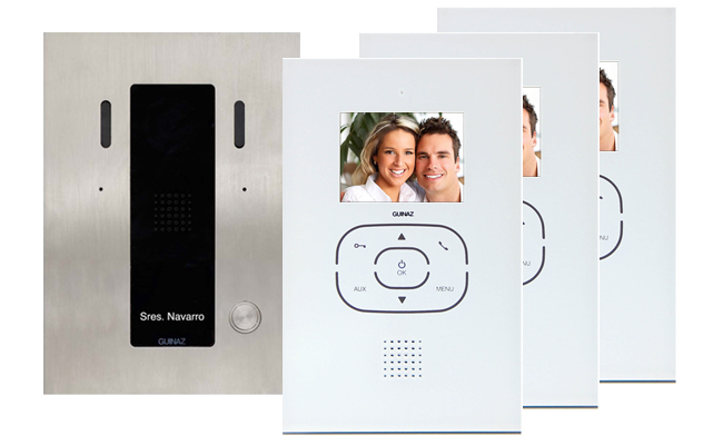Guinaz 3-Monitor Tactile White Image Recording Door Entry Kit