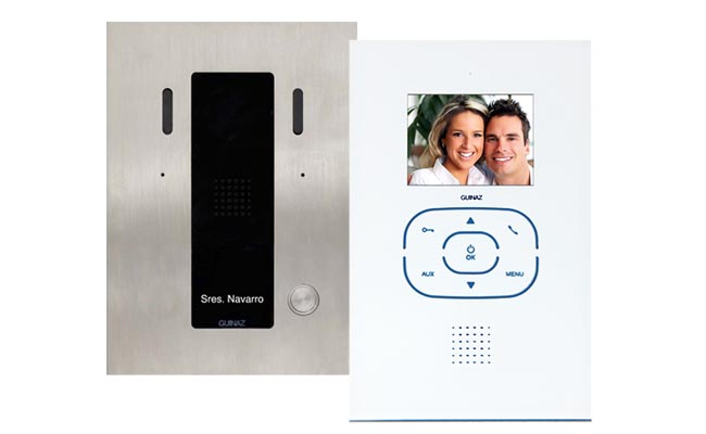 1-Monitor Kit Alea and Tactile White Video Door Entry System