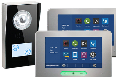 594 Doorbell with ALECTO monitors Video door entry system for two flats