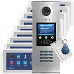 DigiOpen 9-Apartment Video Door Entry System CRONUS White monitors