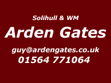 Solihull and West Midlands installer Arden Gates 01564 771064