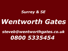 Surrey and South East Installer Wentworth gates 0800 5335454