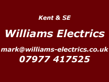 Kent & SE Installer Williams Electrics 07977417525