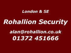 London and South East Installer Rohallion Security 020 85310680