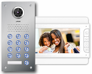 Jade 1-Monitor Video Door Entry Keypad Flush