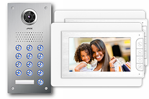 Jade 2-Monitor Video Door Entry Keypad Flush
