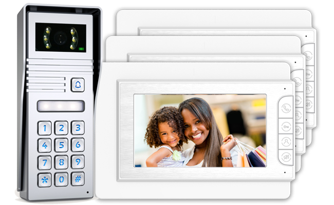 Jade 3-Monitor Video Door Entry Keypad Surface