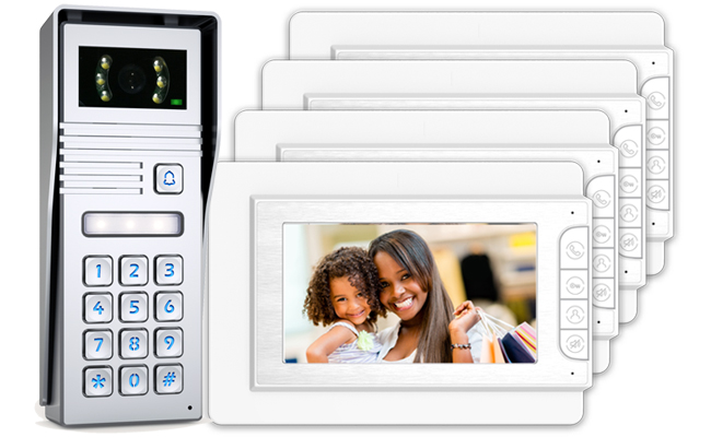 Jade 4-Monitor Video Door Entry Keypad Surface