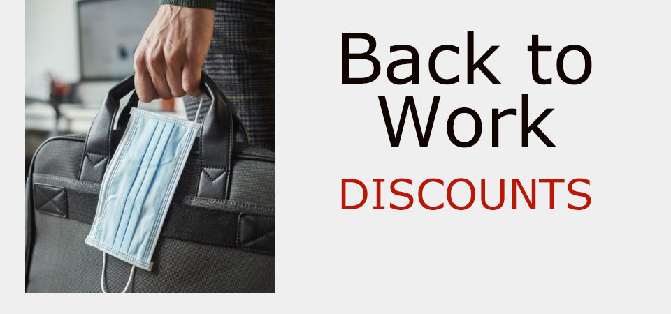 Back-to-work discounts 2020