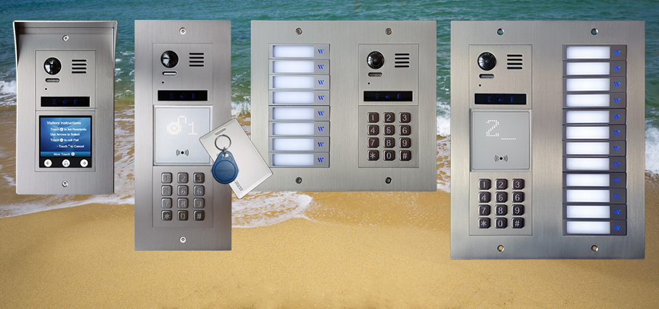 Vulcan DT821 flats doorbell with keypad and proximity reader bespoke